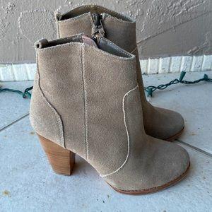 Joie Gray Tan Booties